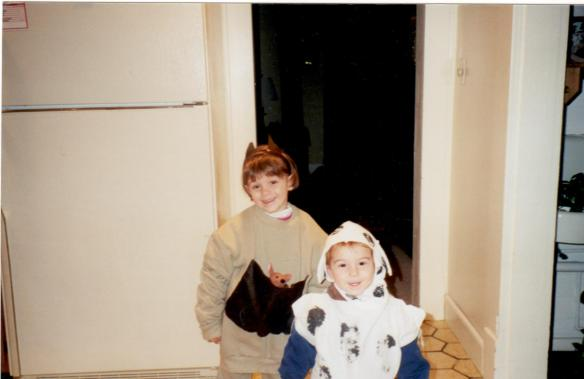 Annie and Bill getting ready for trick-or-treating...just a month before our move to Ohio