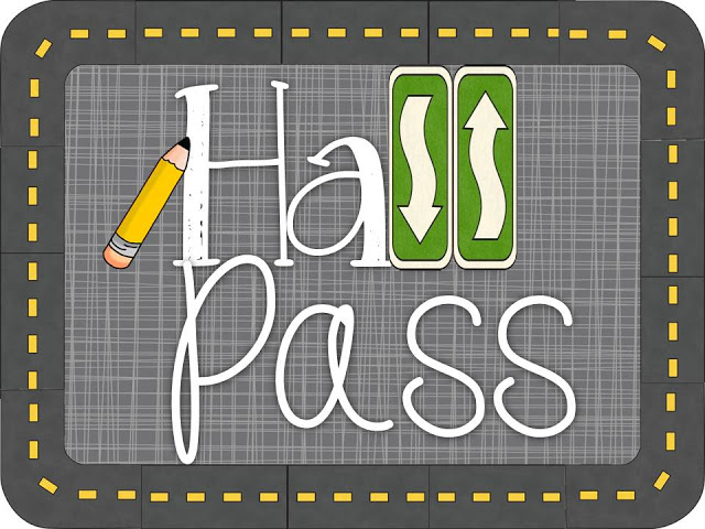When Kids Need a Break: Hall passes with a purpose | Diving for Pearls